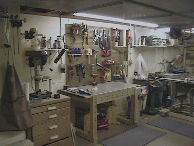 A view of Matt's Basement Workshop