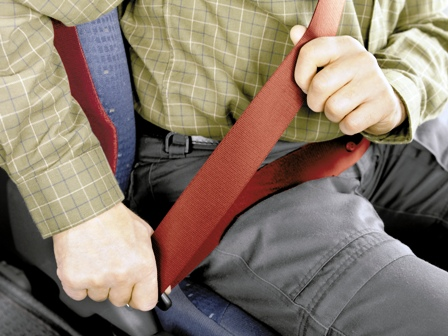 Wearing a seatbelt