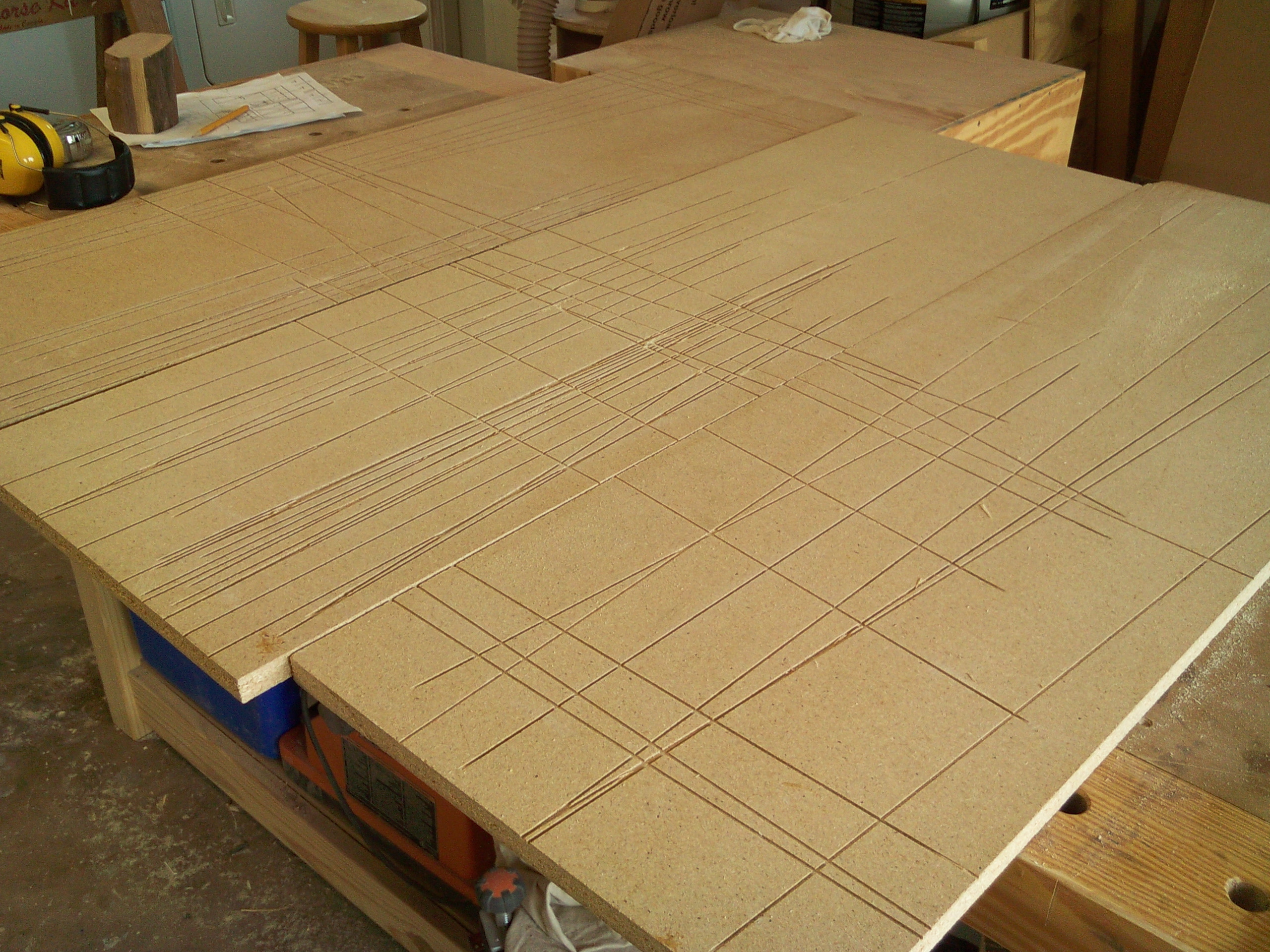 Particle board vs plywood - That S When I Fished Those Sheets Of Particleboard