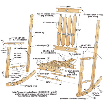 Easy Wooden Rocking Chair Plans - DIY Woodworking Projects