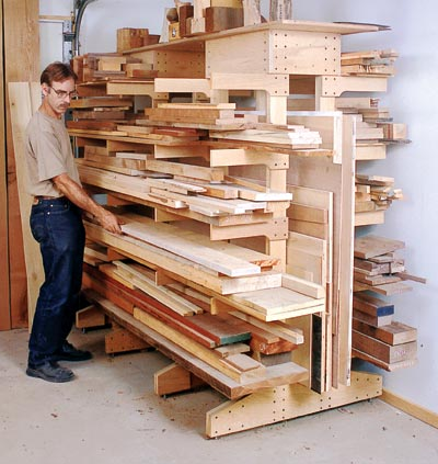 Pdf lumber storage rack plans free for Plan storage racks