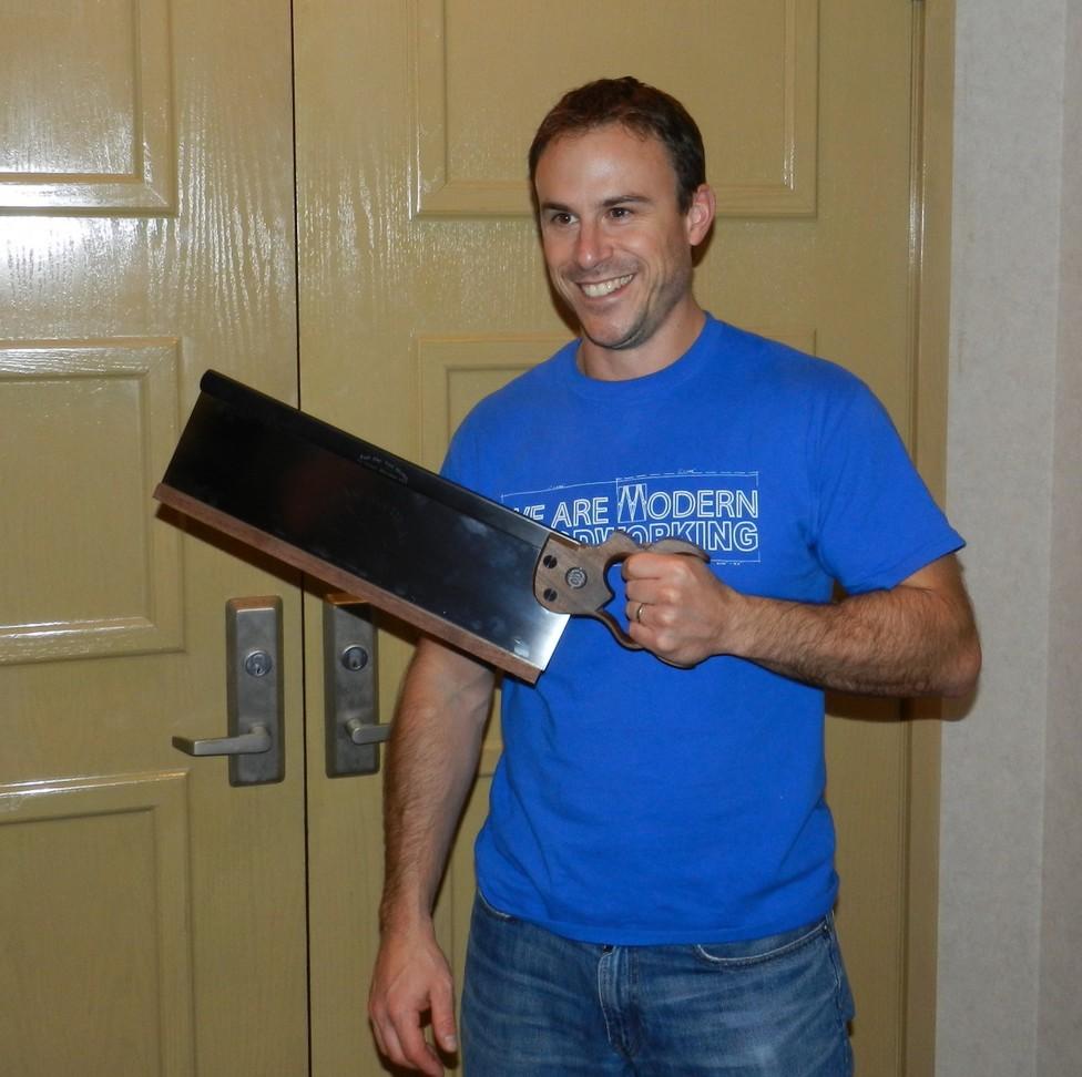 Rob Bois won a Bad Axe tenon saw