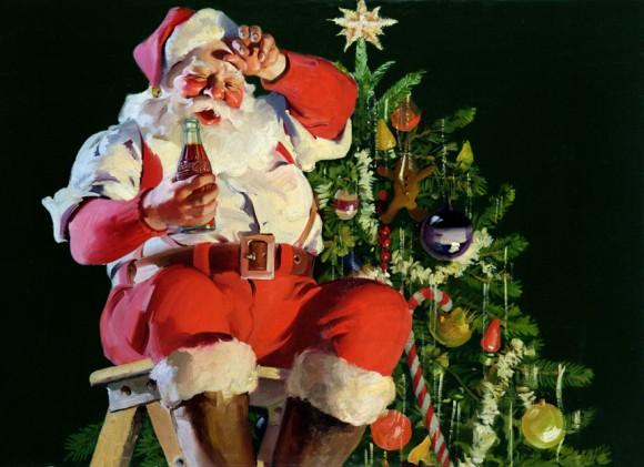 Santa's hard at work today...