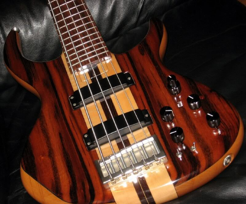 A sweet Goncalo Alves five string bass