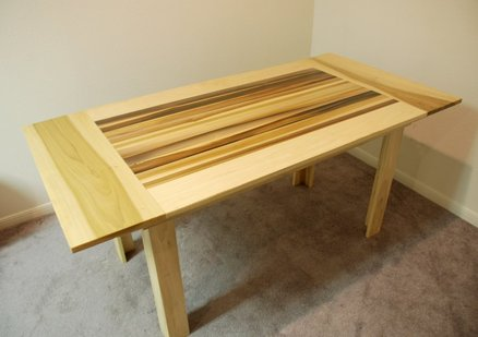 A well executed poplar kitchen table