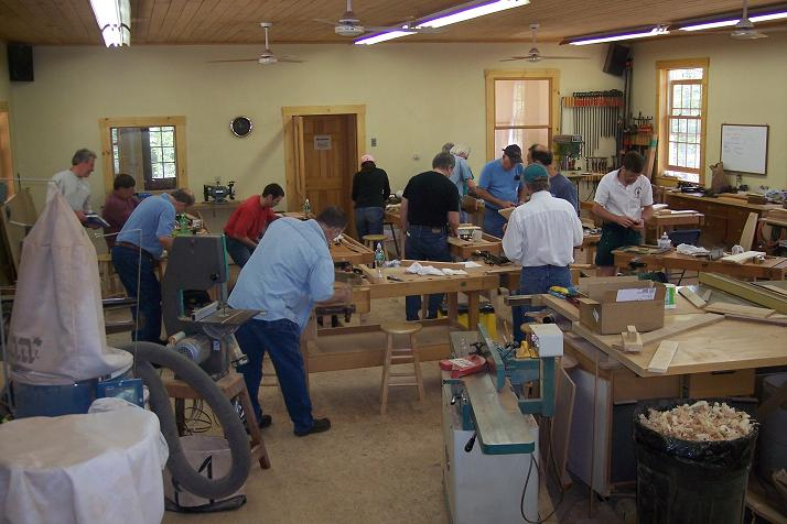 A woodworking class is a great place to learn!