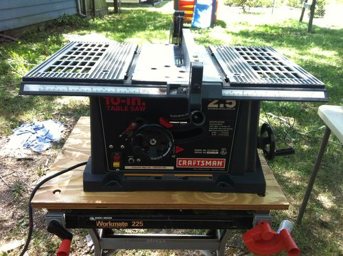 What a cute little table saw...