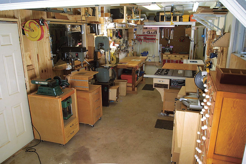 A small, tidy shop is a great place to work