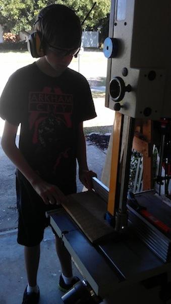 Dom making the rip cuts