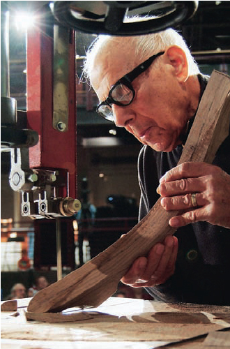Masters like Sam Maloof blended hand and power tools