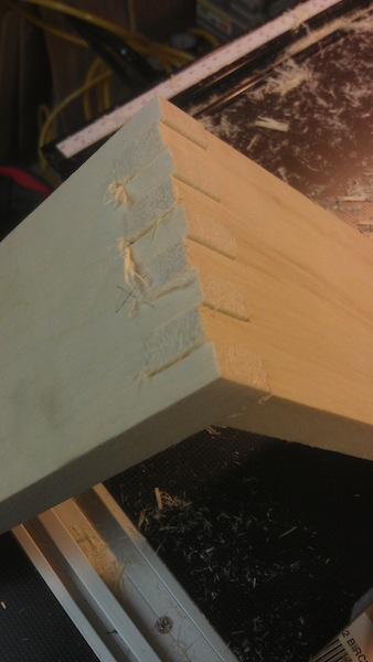 The finished joint