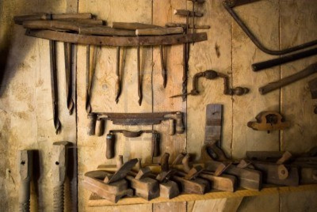 old woodworking power tools