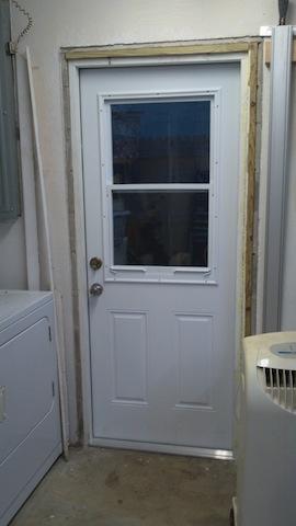 The new door in place
