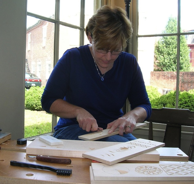 Kari teaching carving