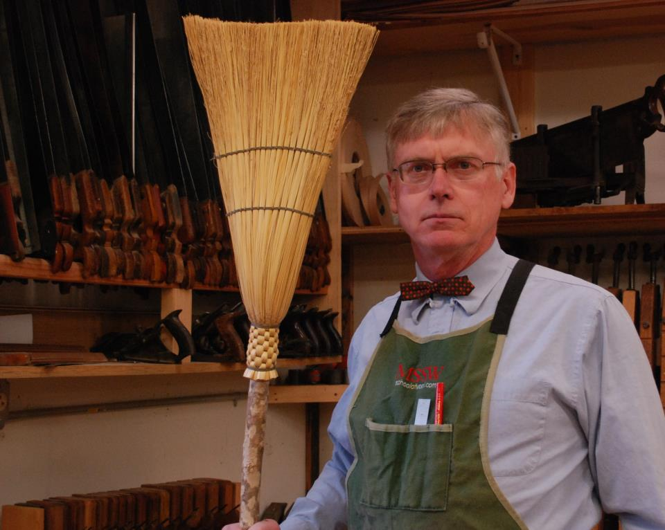 Mike Siemsen and his trusty broom