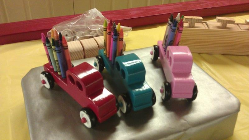 A set of crayon caddies