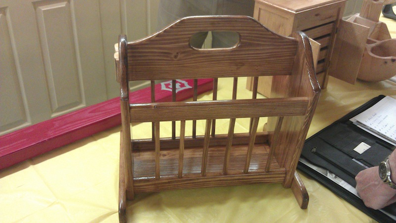 A magazine rack - this was the first place winner