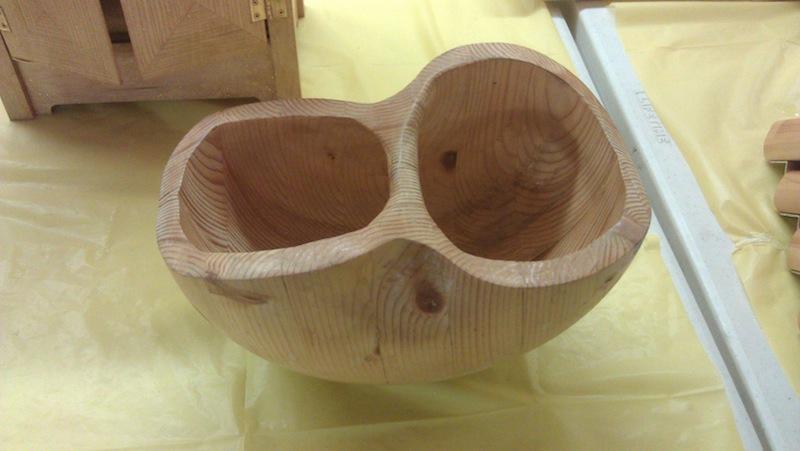 A sculpted bowl