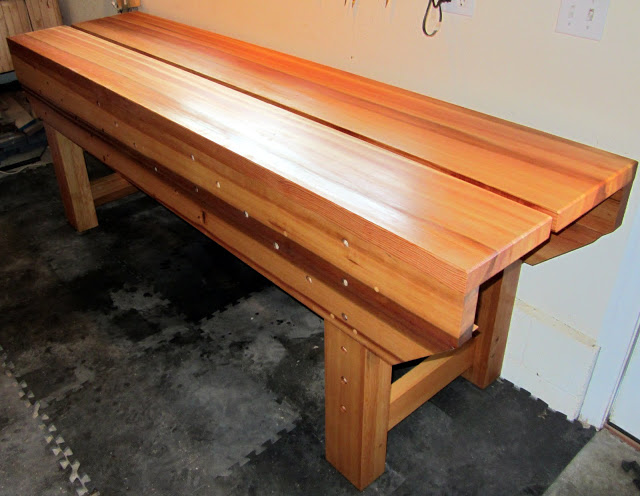Andy Margeson's finished Nicholson Bench