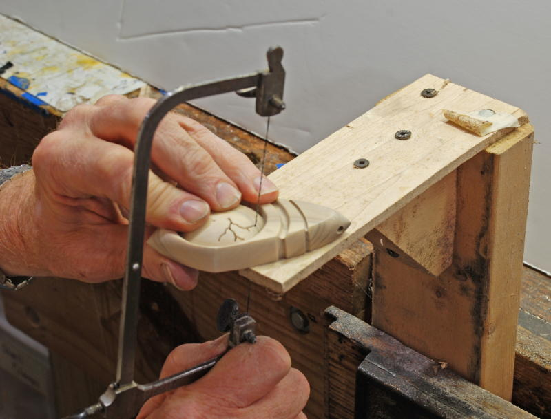 A fret saw can do the job...