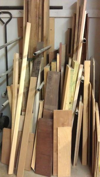The lumber storage now