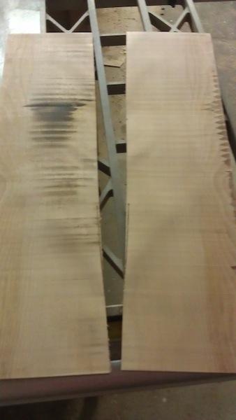 Resawn birch
