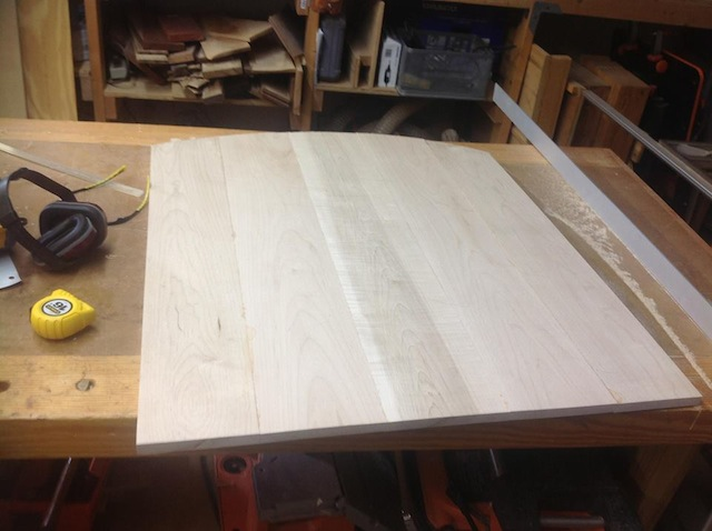The back board cut to size