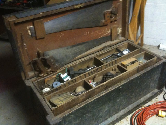 A classic old tool chest