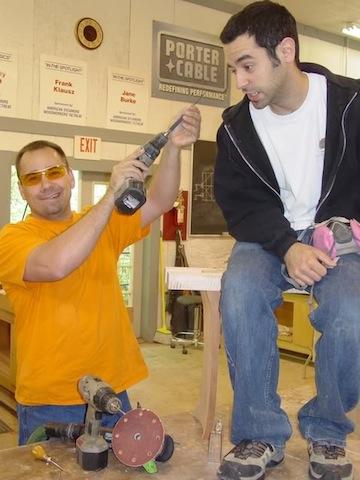 Goofing around with the author, circa 2006.