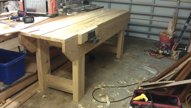 The bench is almost ready!