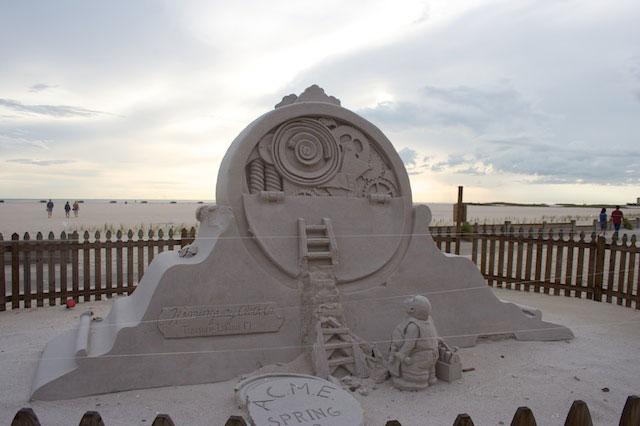 A sand sculpture on Treasure Island