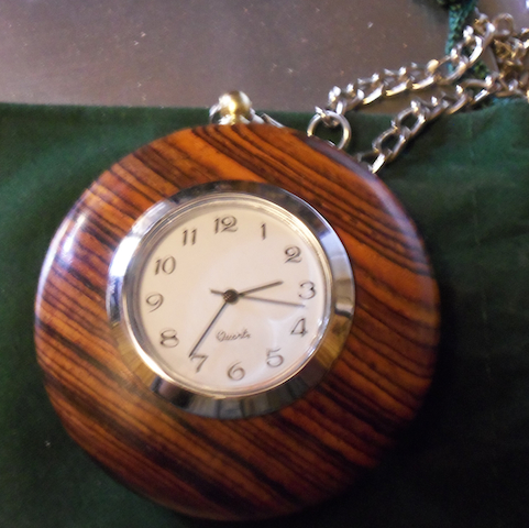 Andrew's Cocobolo Pocketwatch