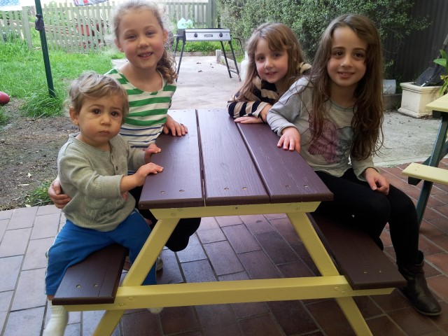 The Kids approve of this table!