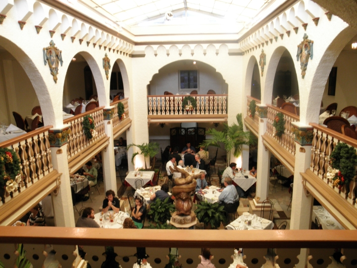 The Columbia's famous interior courtyard