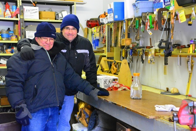 Me and Dad in his shop