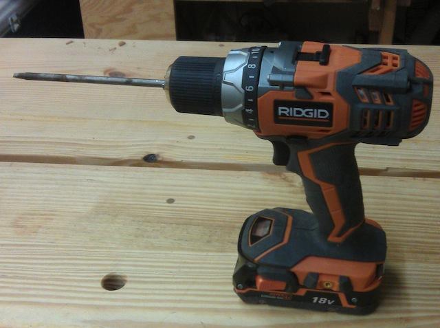 The new Ridgid drill