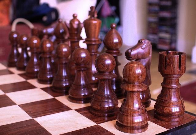 Cocobolo chess pieces