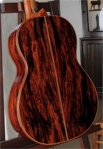 cocobolo guitar back