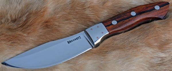 A cocobolo handled knife