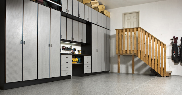 Diamond plate garage cabinets