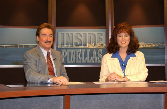 Len and Lori Hudson on the set of Inside Pinellas