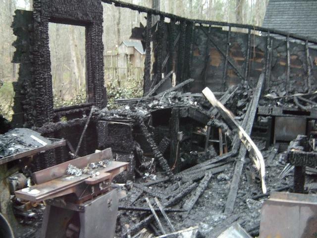 burned shop