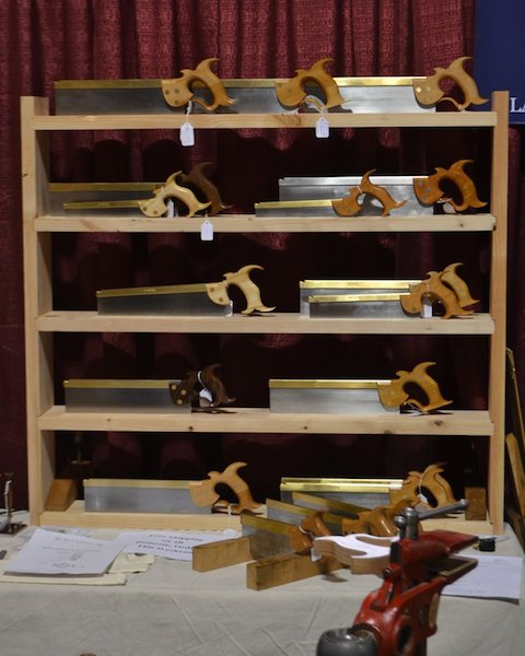 A rack of  Blackburn saws at WIA 2013