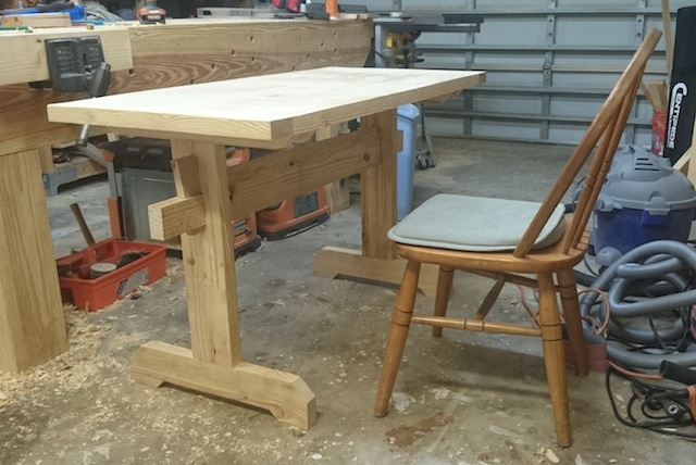 The table, ready for finish