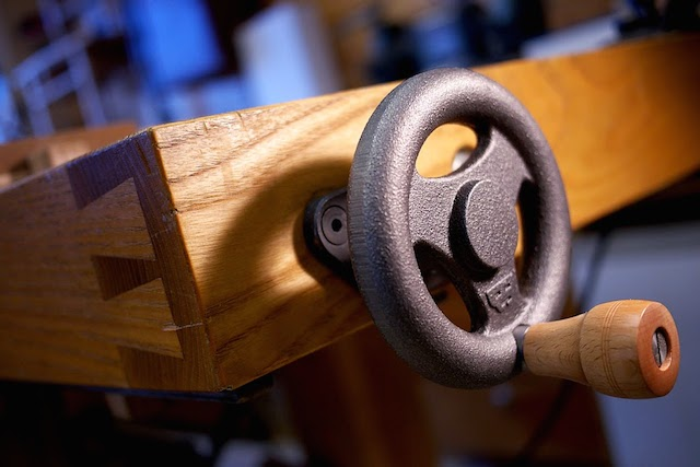A BenchCrafted vise handle
