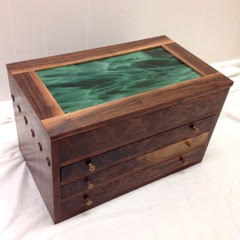 The Walnut display case