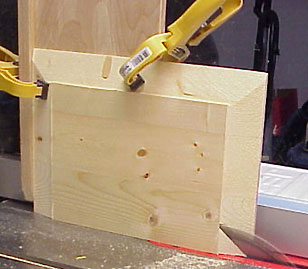 Panel raising on the table saw