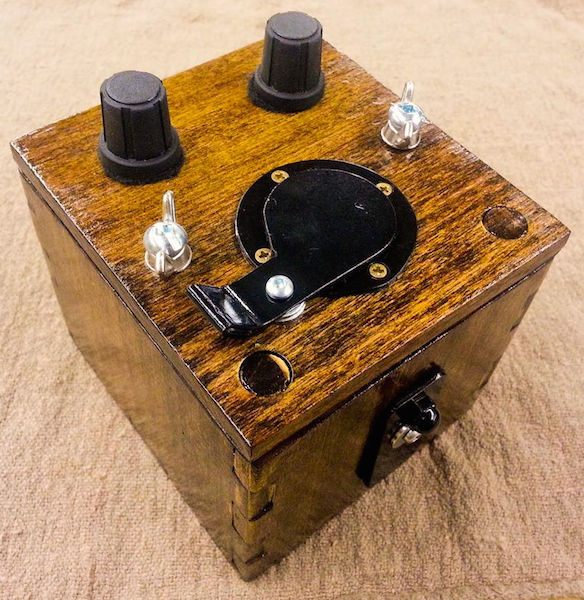 A wooden pinhole camera