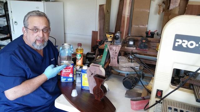 Steve and his ingredients