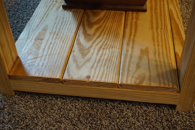 the tongue and groove boards were sweet clear pine and i had the option of either having them at their full six inch width or flipping them over and